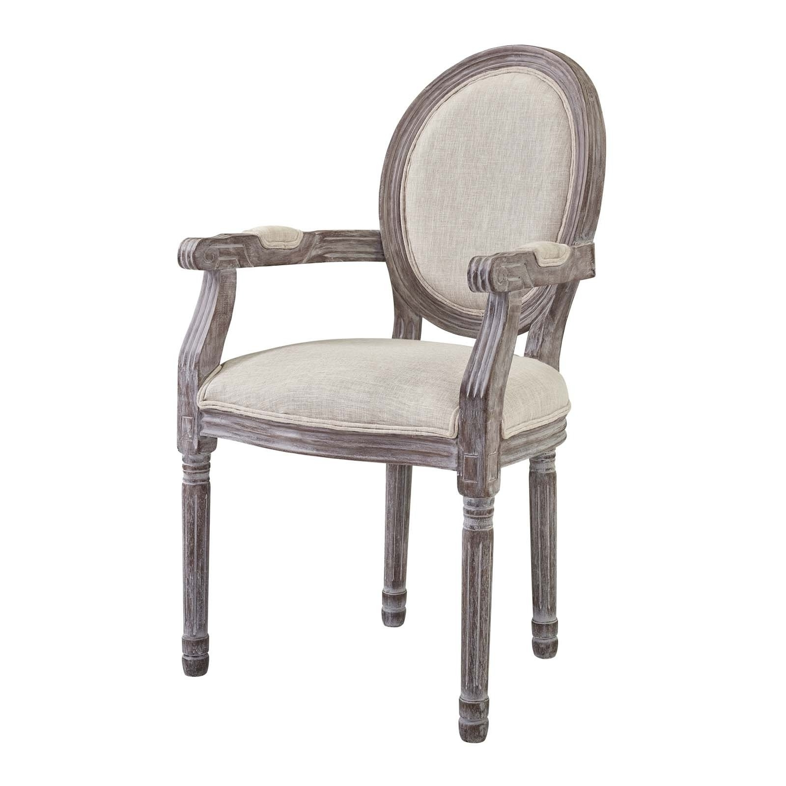 Caira Upholstered Arm Chairs Regarding Preferred Shop Emanate Vintage French Upholstered Fabric Dining Armchair – N/a (View 6 of 20)