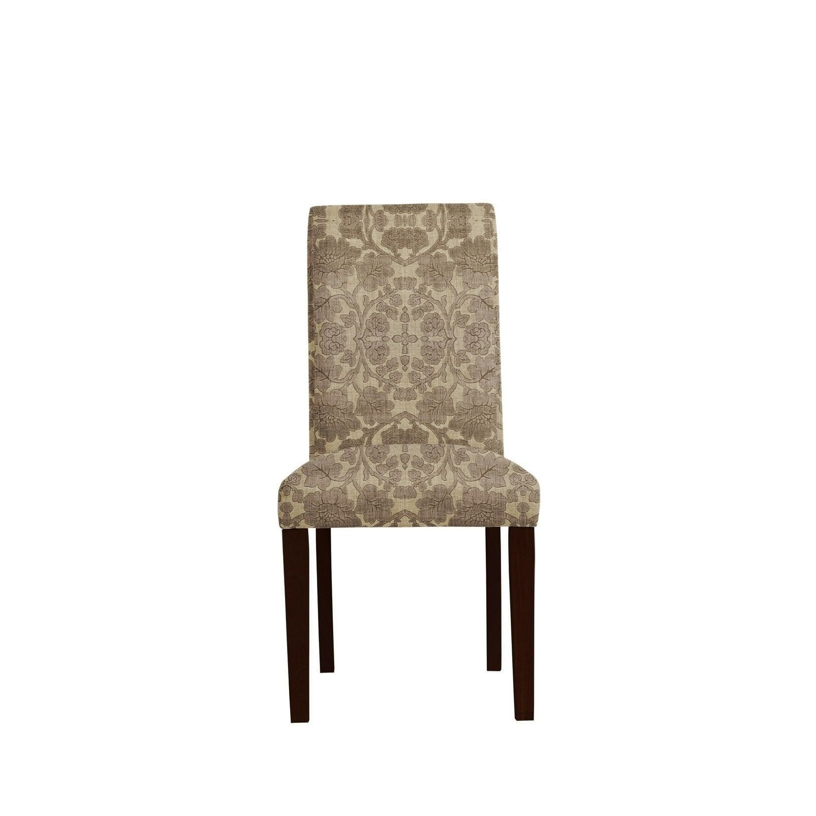 Caira Upholstered Diamond Back Side Chairs Inside 2018 Set Of 2 Daniala Side Chairs With Plush Fabric 648, Brown/floral (View 3 of 20)