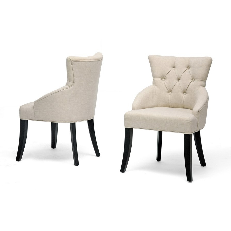 Caira Upholstered Diamond Back Side Chairs Intended For Famous Shop Halifax Light Beige Dining Chair (Set Of 2) – Free Shipping (View 5 of 20)