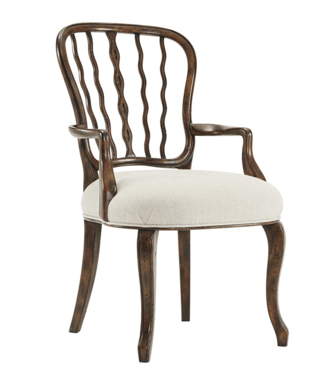 Carmel Oak Side Chairs In Most Recent Serpentine Arm Chair (View 4 of 20)