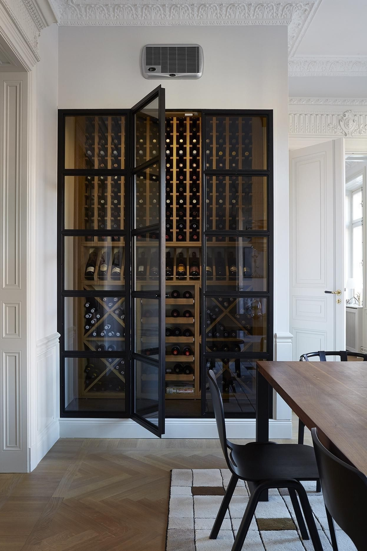 Celler Grey Side Chairs In Most Up To Date Winecellar. Scandinavian Luxury Apartment (View 12 of 20)