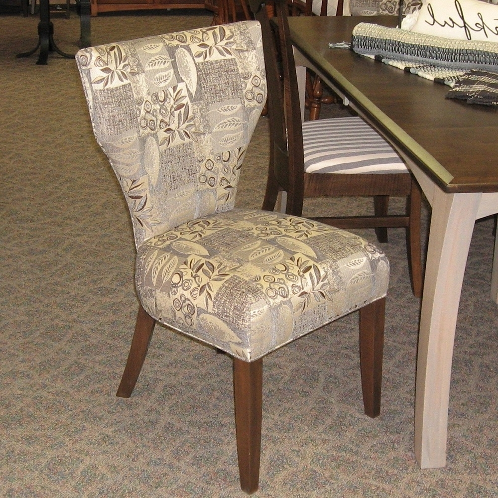 Chandler Fabric Side Chairs With Well Liked Roosevelt Fabric Covered Side Chair, Shown In Brown Maple With A (View 8 of 20)