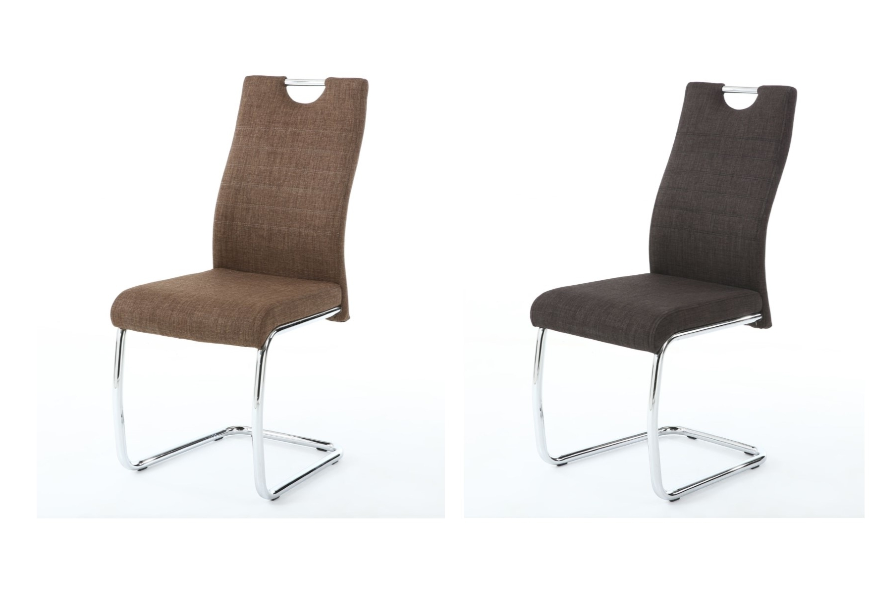 Charcoal Dining Chairs With Regard To Well Known 2X Talia Fabric Dining Chairs – Charcoal, Cinnamon & Cantilever (View 7 of 20)