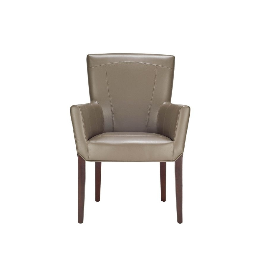 Clay Side Chairs Throughout Widely Used Safavieh Hudson Collection Clay Leather Club Chair (View 3 of 20)