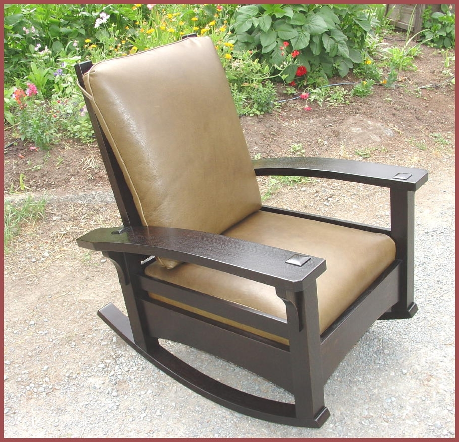 Craftsman Arm Chairs Regarding Most Up To Date Voorhees Craftsman Mission Oak Furniture – Bow Arm Adjustable (View 18 of 20)
