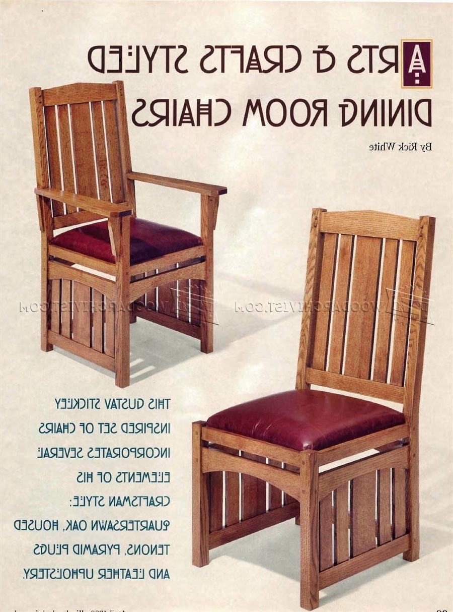 Craftsman Side Chairs Throughout Latest Dining Room Chairs Plans • Woodarchivist (View 6 of 20)