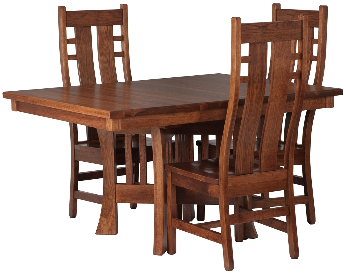 Craftsman Side Chairs Throughout Trendy Craftsman Style Dining Room Table – Www (View 7 of 20)