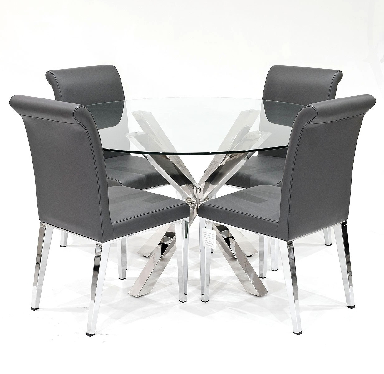 Crossly Dining Table And Grey Kirkland Dining Chair Set – Be Fabulous! With Widely Used Grey Dining Chairs (View 16 of 20)
