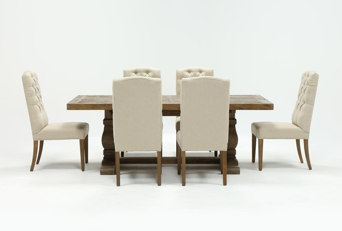 Current Caden Upholstered Side Chairs Inside Caden 7 Piece Dining Set With Upholstered Side Chair (View 5 of 20)
