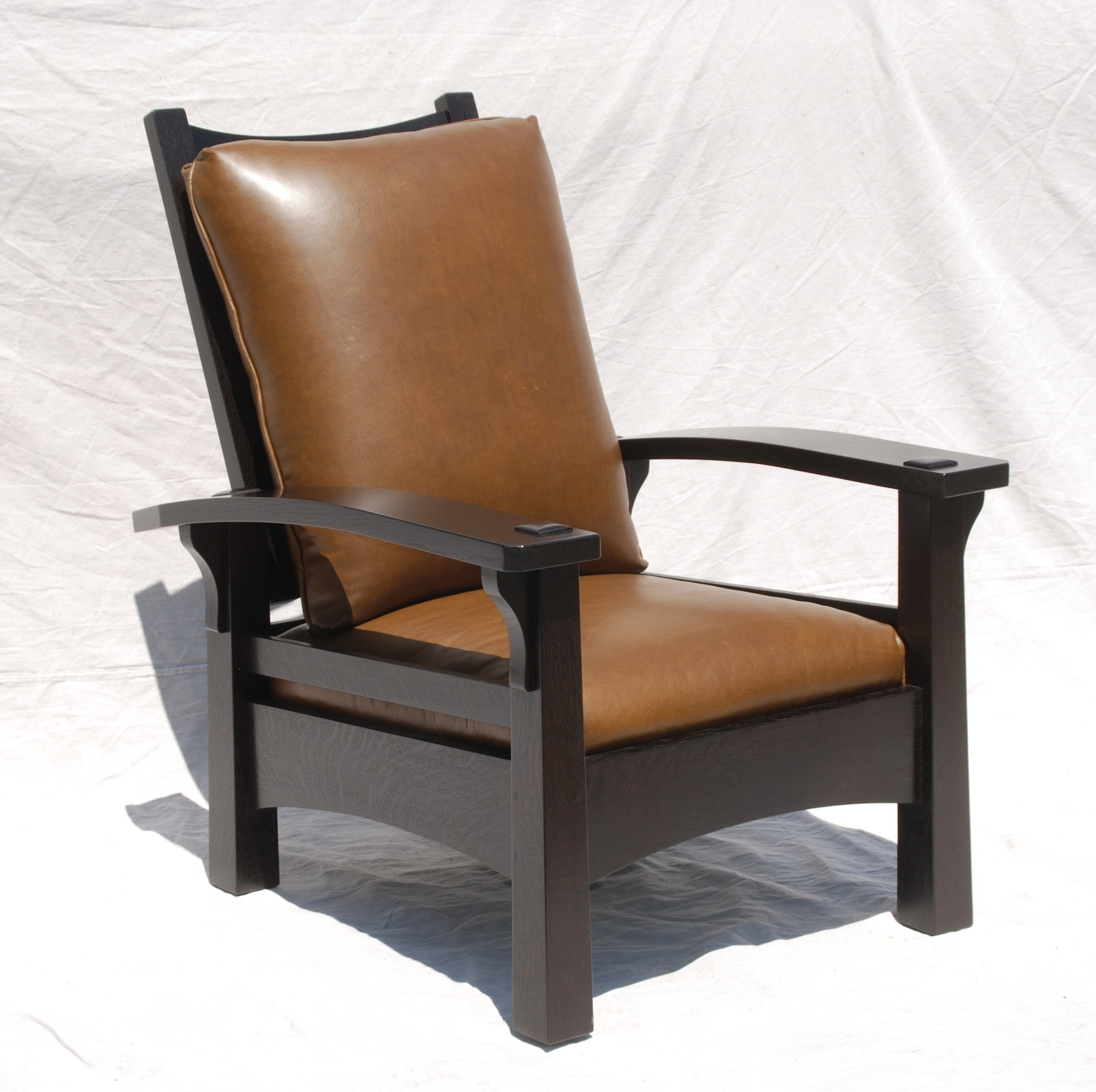 Current Craftsman Arm Chairs With Voorhees Craftsman Mission Oak Furniture – Replica Gustav Stickley (View 8 of 20)