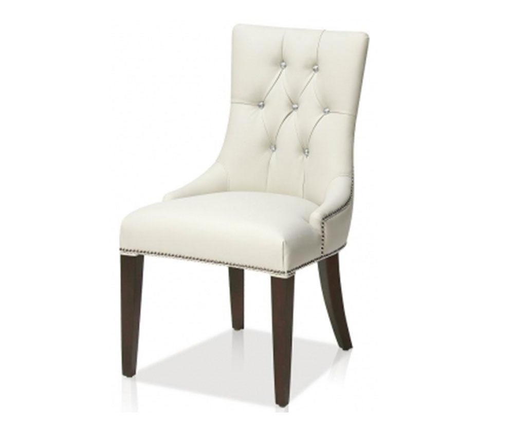 Current Jaxon Grey Wood Side Chairs Regarding Anastasia Faux Leather Dining Side Chair – Decorium Furniture (View 4 of 20)
