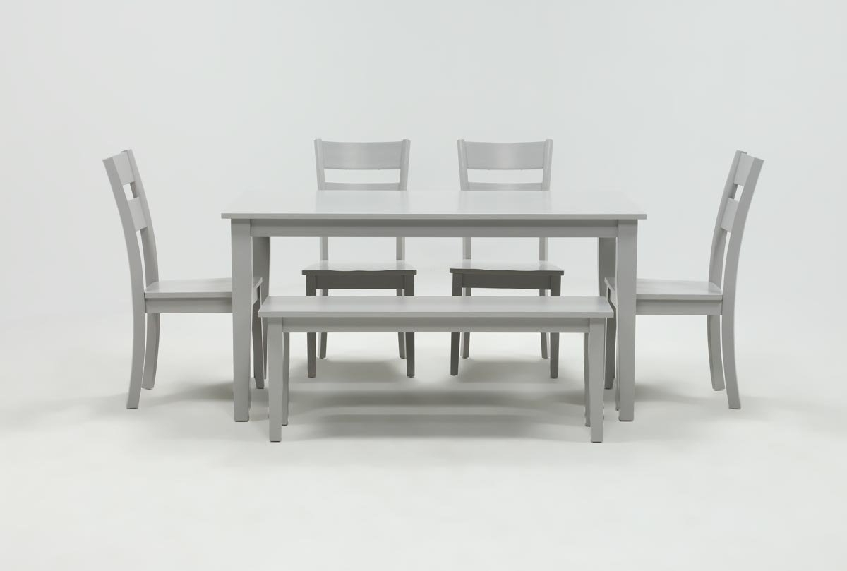 Current Lindy Dove Grey Side Chairs With Kit Lindy 6 Piece Dove Grey Rectangle Dining Set (View 4 of 20)