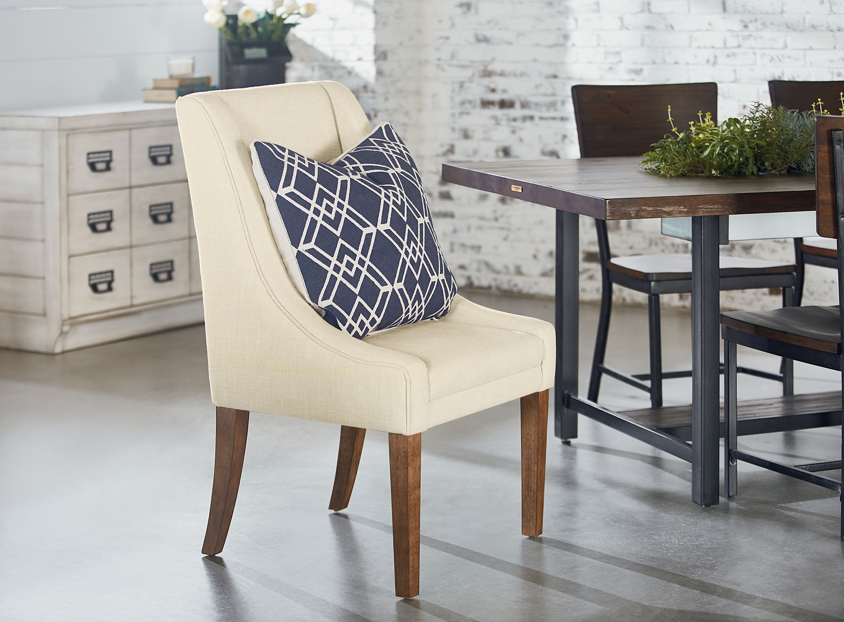 Current Magnolia Home Demi Flannel Wing Side Chairs In Demi Wing Side Chair – Magnolia Home (View 3 of 20)