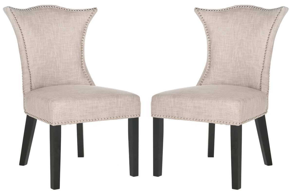 Current Mcr4717A Set2 Dining Chairs – Furnituresafavieh With Caira Black Upholstered Diamond Back Side Chairs (View 6 of 20)