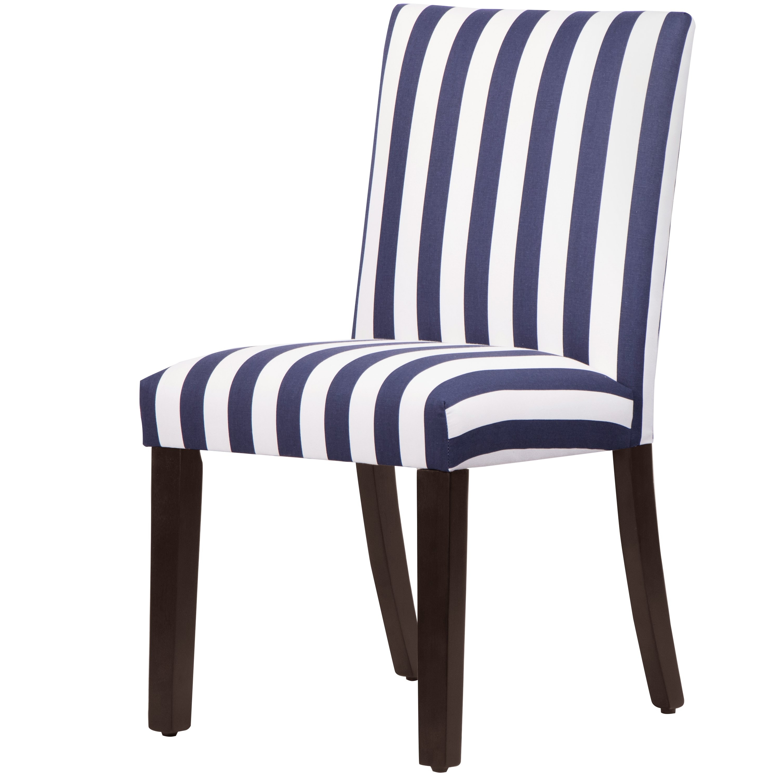 Current Shop Skyline Furniture Uptown Dining Chair In Canopy Stripe Blue Within Blue Stripe Dining Chairs (View 7 of 20)