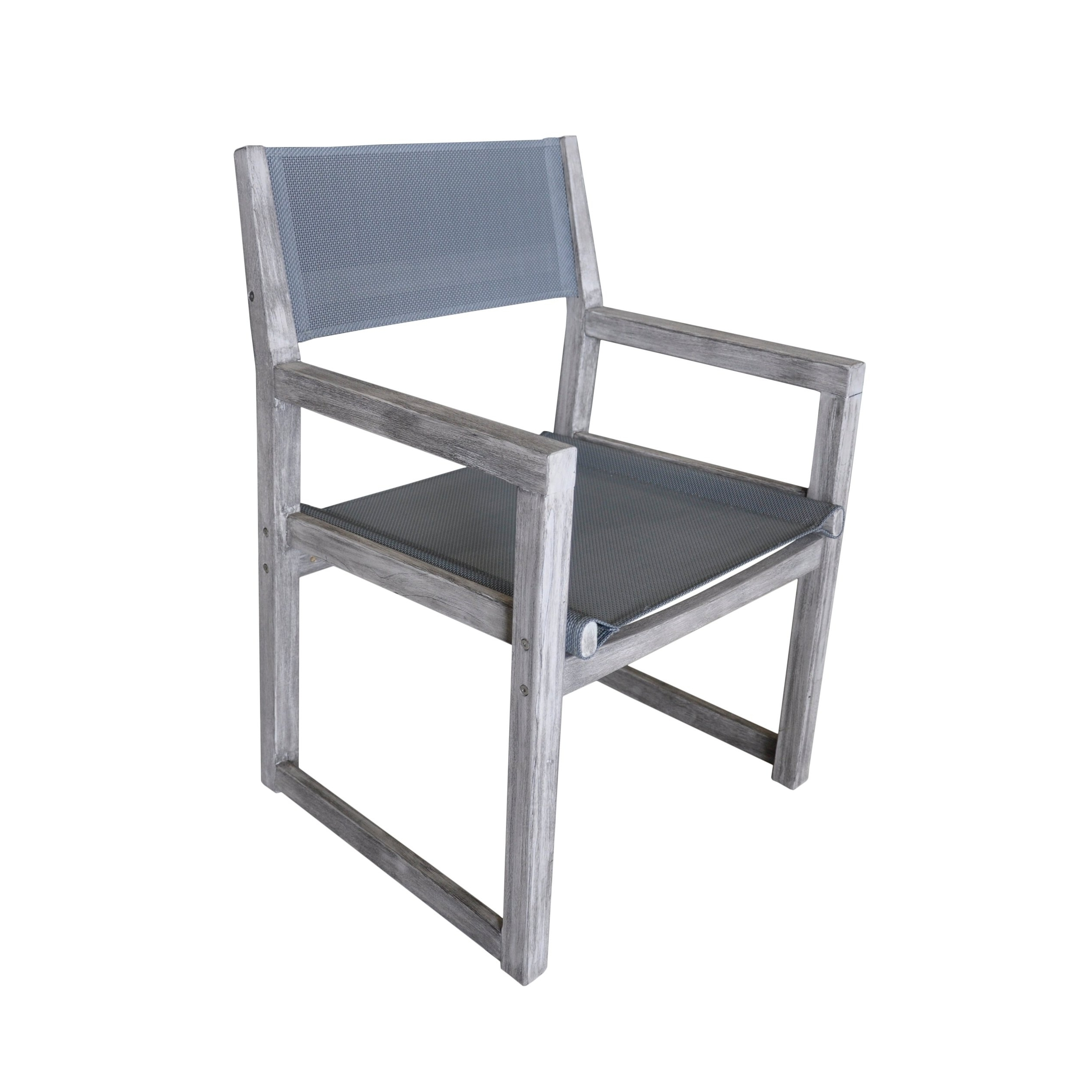 Delfina Side Chairs Intended For Well Known Shop Courtyard Casual Gray Teak Bay Side Outdoor Sling Dining Chair (View 20 of 20)