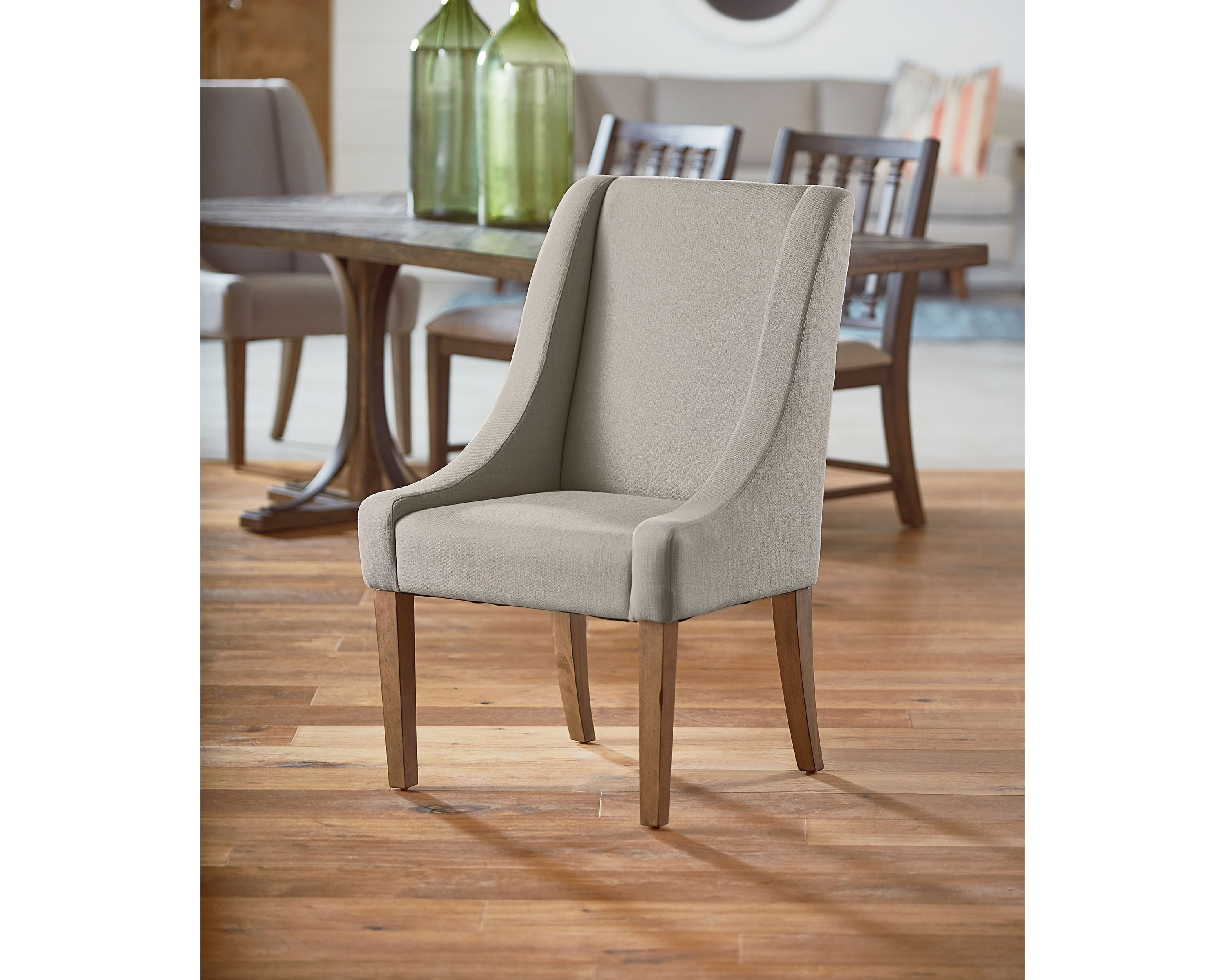 Demi Wing Side Chair – Magnolia Home Inside Most Popular Magnolia Home Demi Flannel Wing Side Chairs (Gallery 2 of 20)