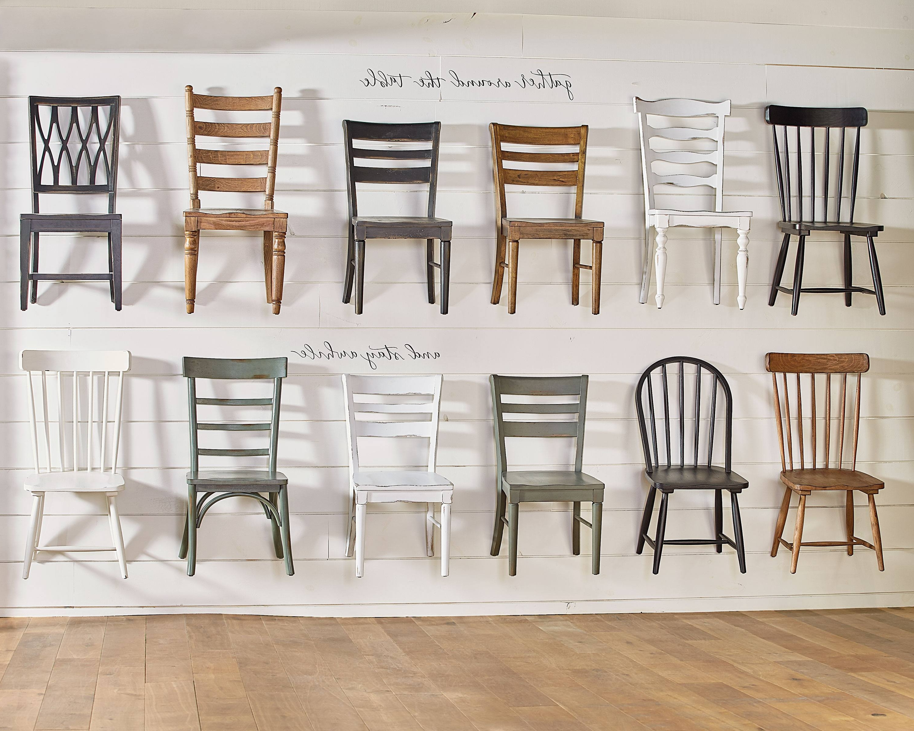 Dining Chair Wall – Magnolia Home Throughout Newest Magnolia Home Kempton Bench Side Chairs (View 1 of 20)