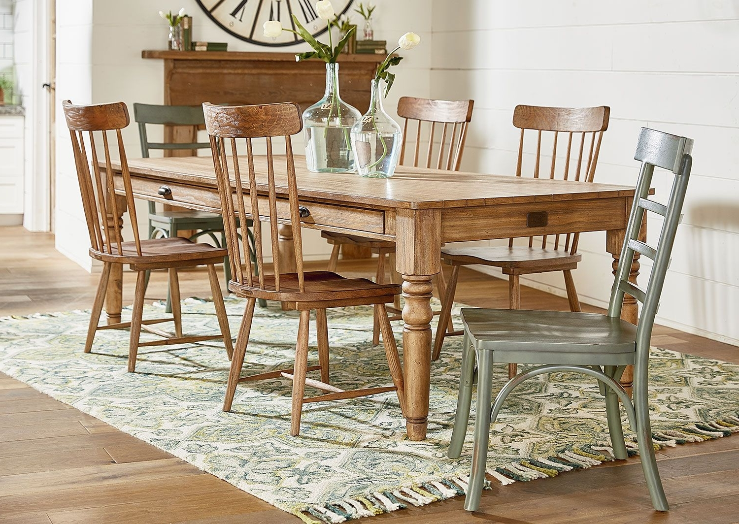 Dining Room Furniture – Farmhouse Spindle Back Side Chair – Bench Regarding Current Magnolia Home Spindle Back Side Chairs (View 9 of 20)
