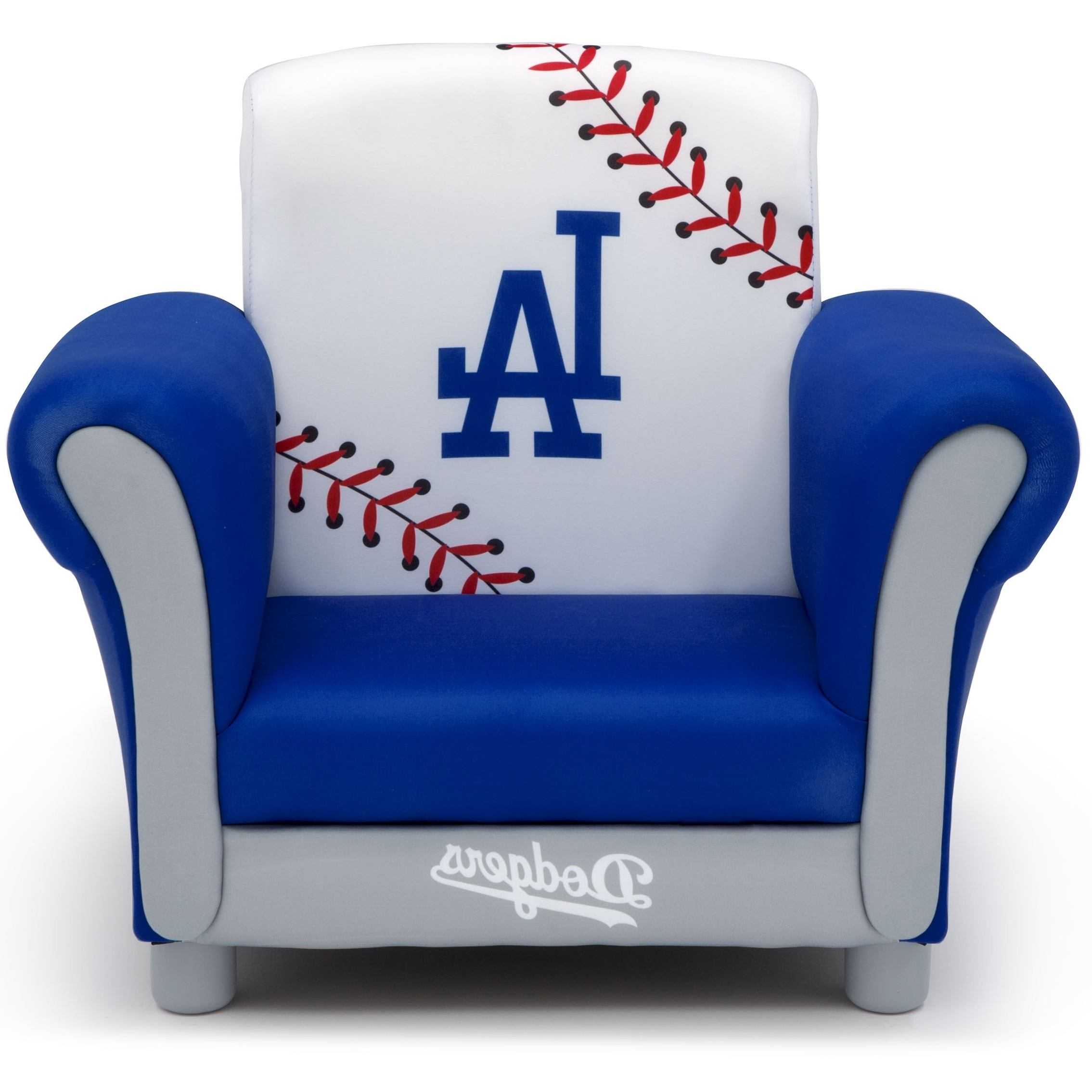 Dodger Side Chairs With Regard To Famous Mlb Los Angeles Dodgers Kids Upholstered Chairdelta Children (Gallery 7 of 20)