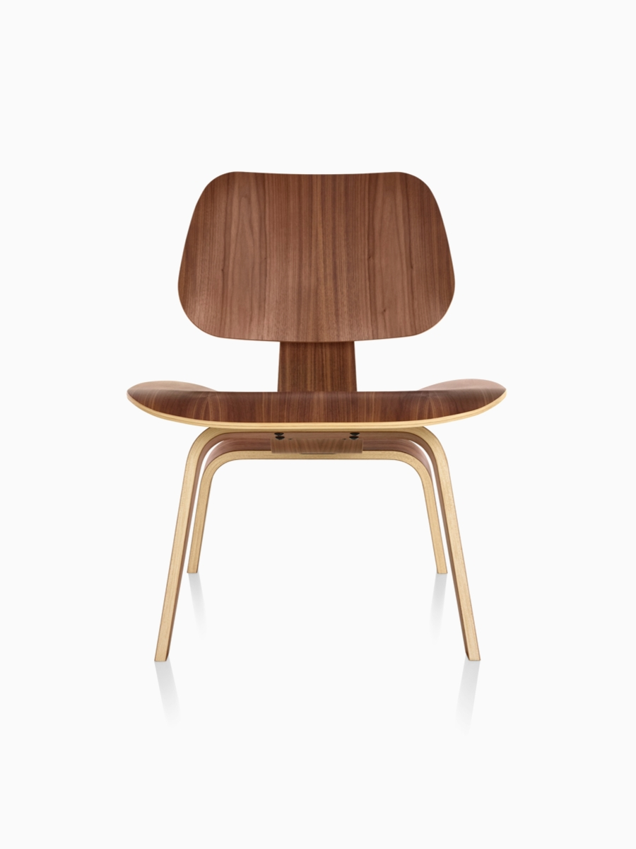 Eames® Molded Plywood Lounge Chair Metal Base — A Cousin Of The For Current Plywood & Metal Brown Dining Chairs (View 1 of 20)