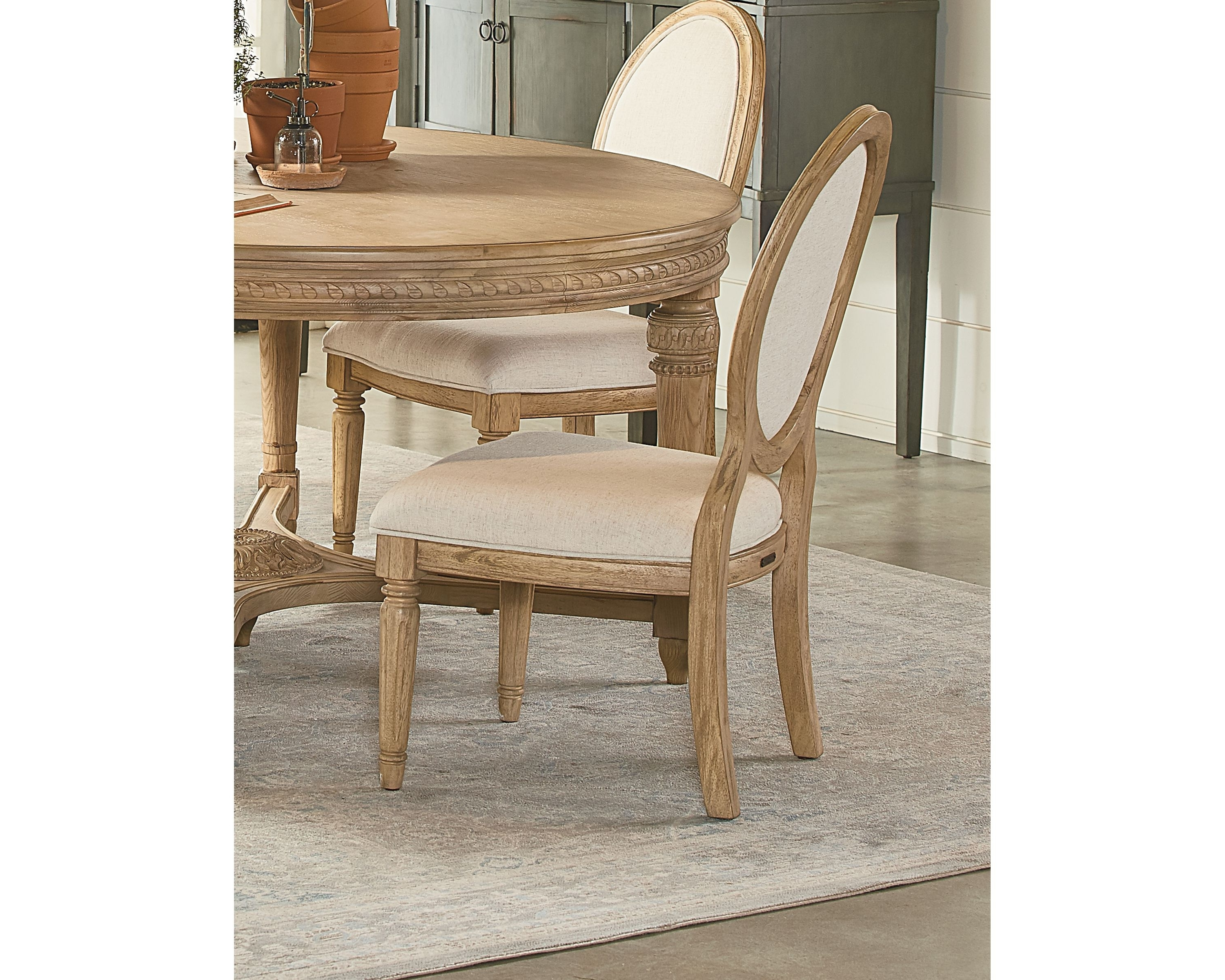 Emery Side Chair – Magnolia Home Pertaining To 2018 Magnolia Home Emery Ivory Burlap Side Chairs (Gallery 1 of 20)
