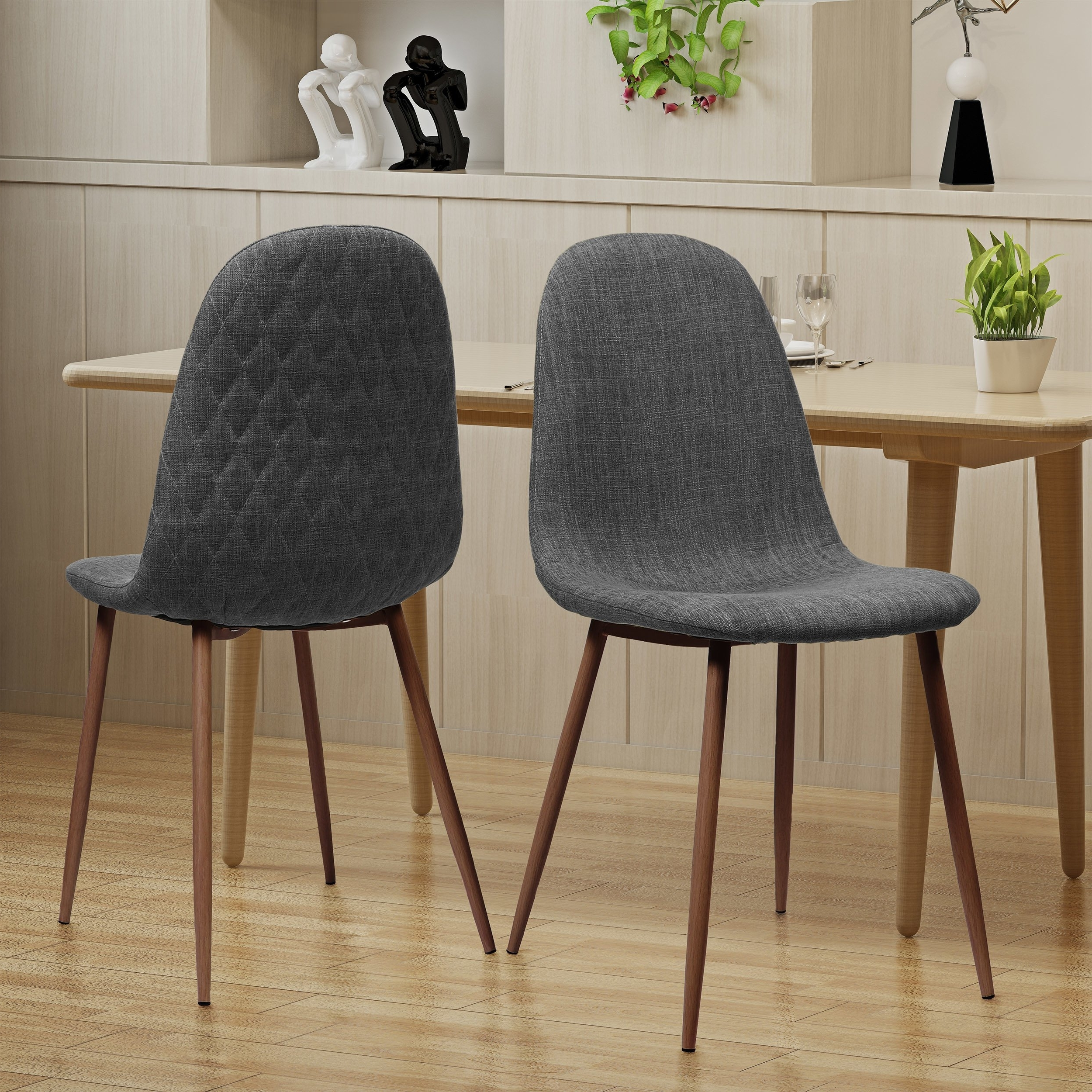 Famous Caden Upholstered Side Chairs With Shop Caden Mid Century Fabric Dining Chair (set Of 2)christopher (View 6 of 20)