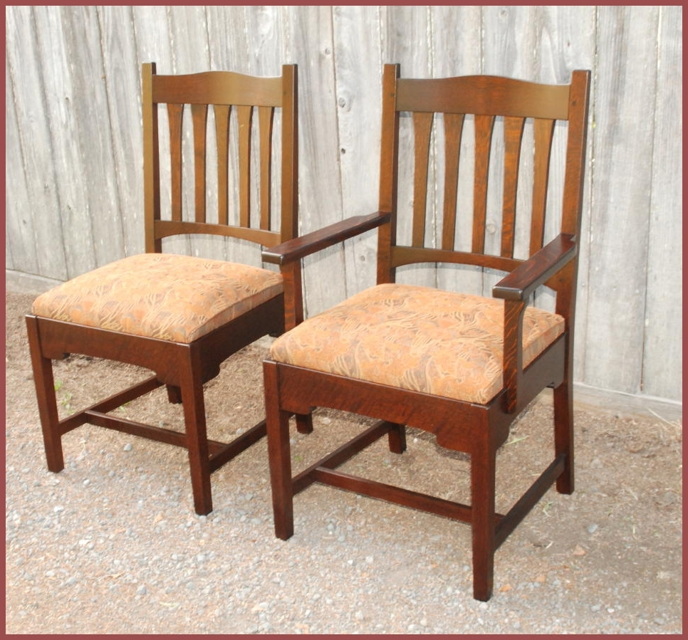 Famous Craftsman Side Chairs Inside Voorhees Craftsman Mission Oak Furniture – Replica Gustav Stickley (View 9 of 20)