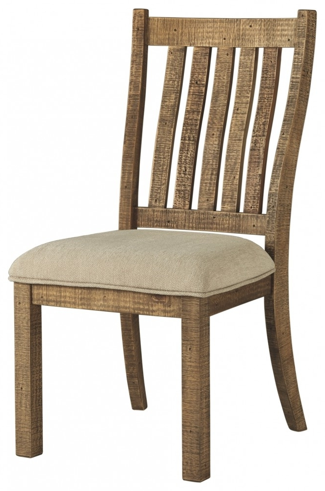 Famous Grindleburg – White/light Brown – Dining Uph Side Chair (2/cn Pertaining To Market Side Chairs (View 9 of 20)