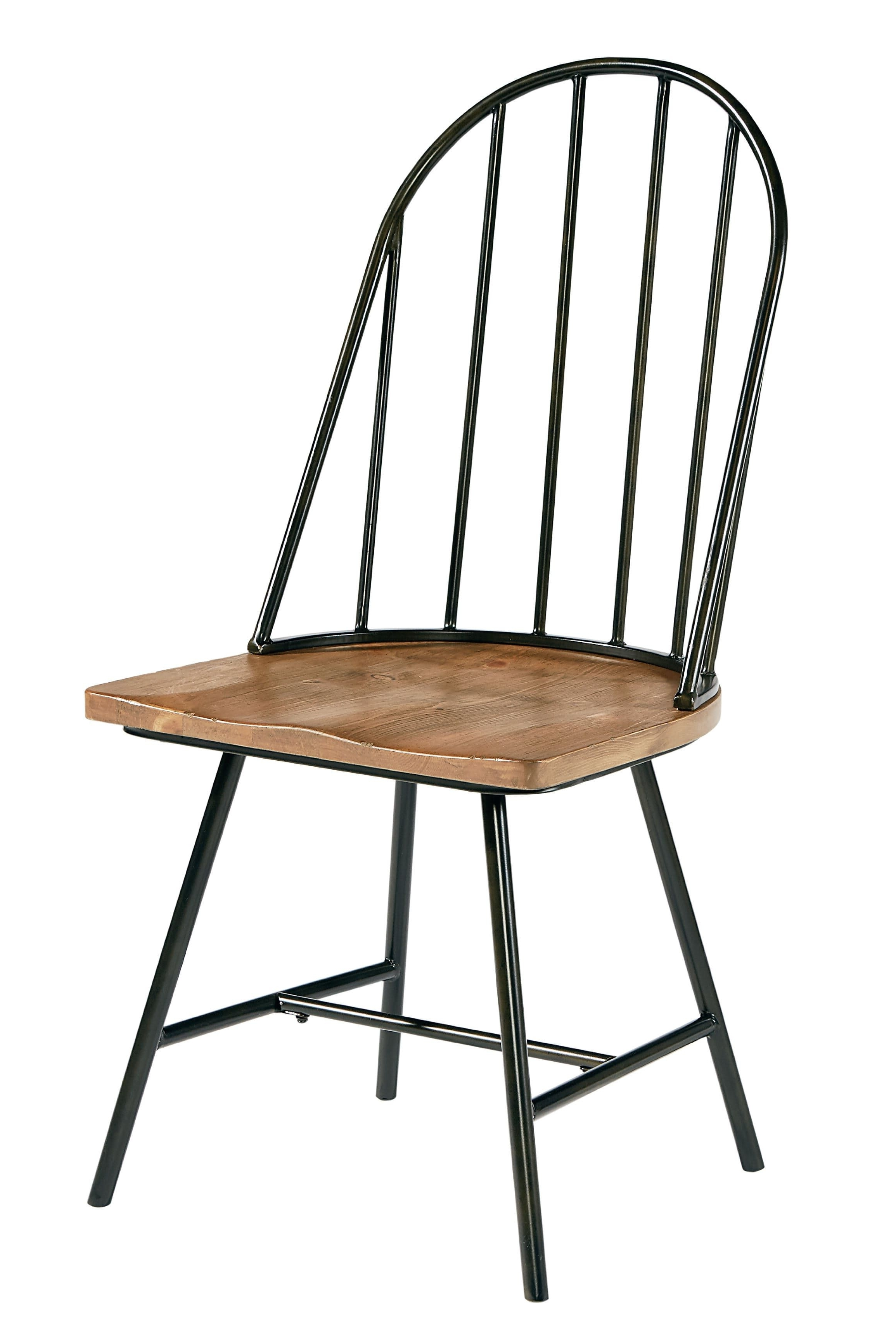 Famous Magnolia Home Kempton Bench Side Chairs Pertaining To Magnolia Home – Windsor Metal And Wood Hoop Chair St: (View 2 of 20)