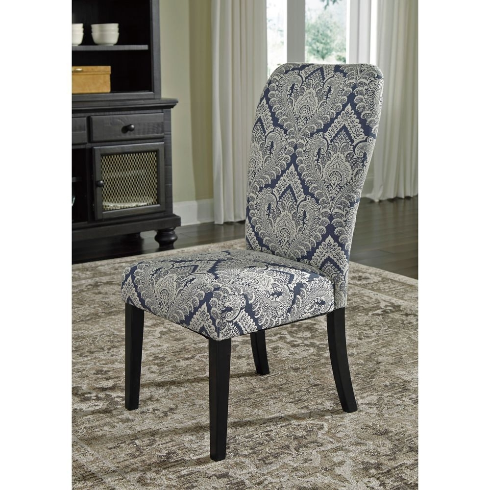 Famous Signature Designashley Indigo Sharlowe Dining Upholstered Side Within Candice Ii Upholstered Side Chairs (View 10 of 20)