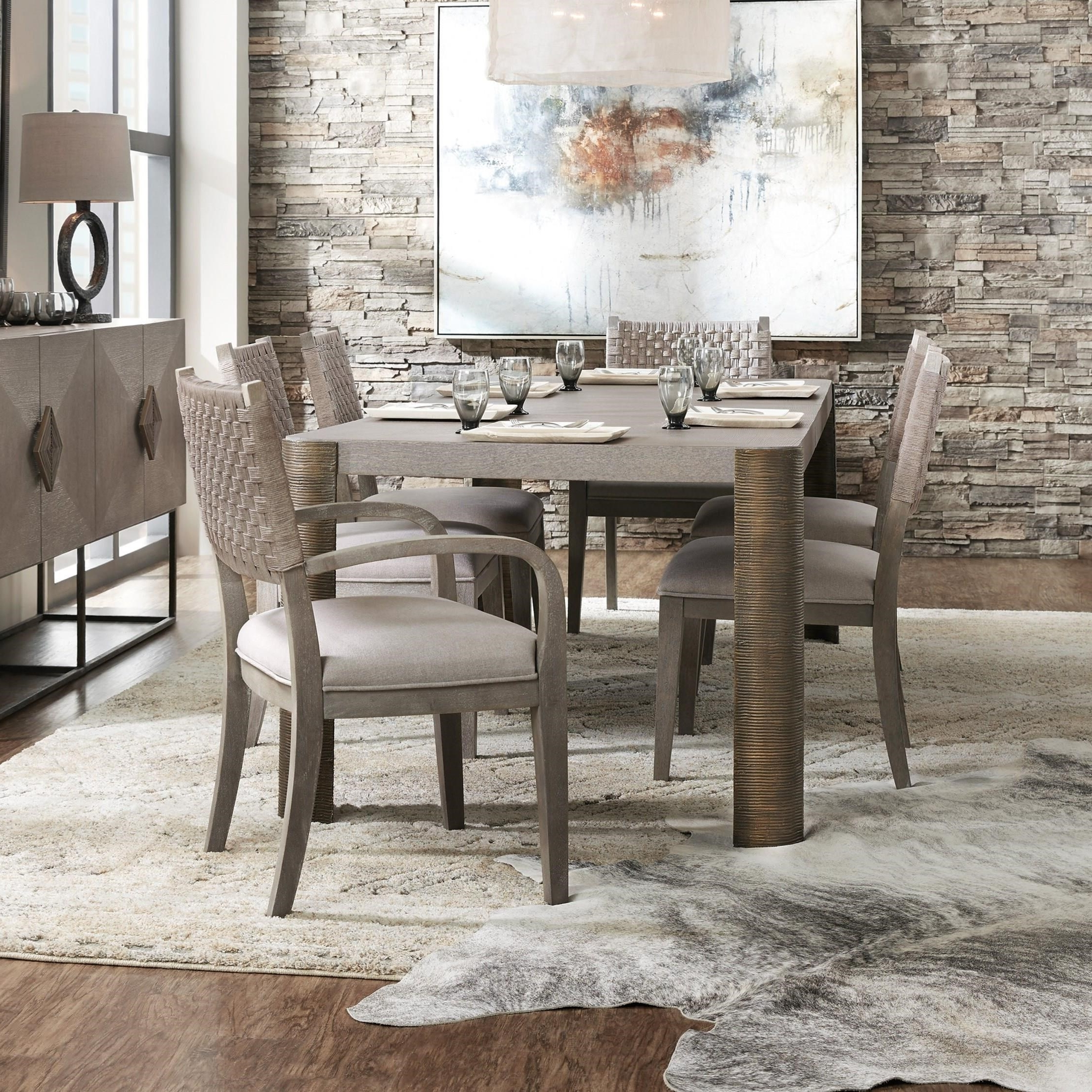 Fashionable Carmel Oak Side Chairs With Regard To Hooker Furniture Miramar – Carmel 7 Piece Dining Table And Chair Set (View 14 of 20)