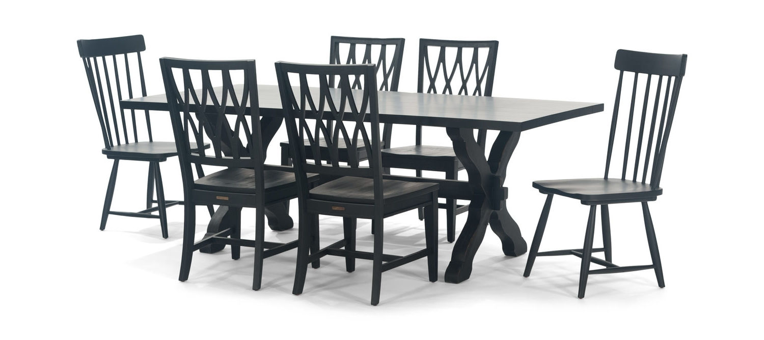 Fashionable Sawbuck Table With 2 Spindle Chairs And (View 12 of 20)