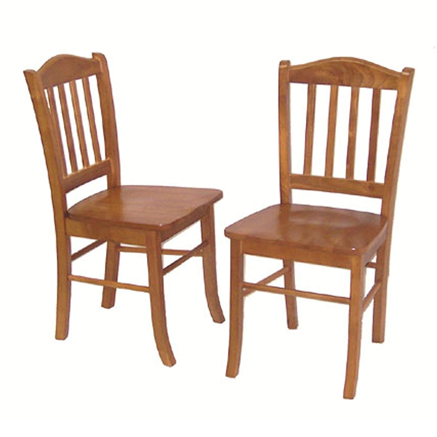 Favorite Bowery Ii Side Chairs Regarding Amazon: Boraam 30136 Shaker Chair, Oak, Set Of 2: Kitchen & Dining (View 18 of 20)