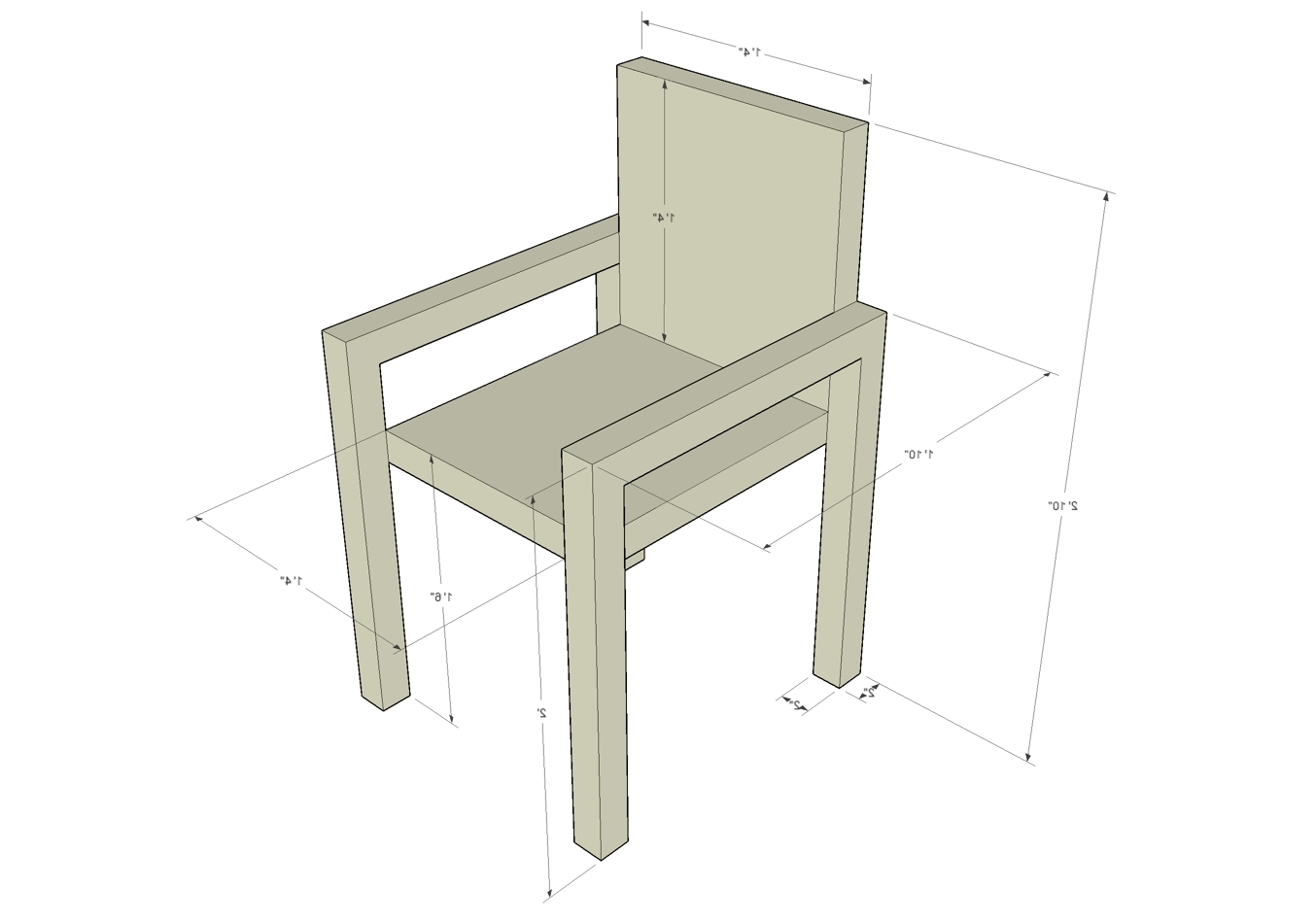Favorite Grady Middle School Citizen Sketchup Furniture Dimensions Pertaining To Grady Side Chairs (View 4 of 20)