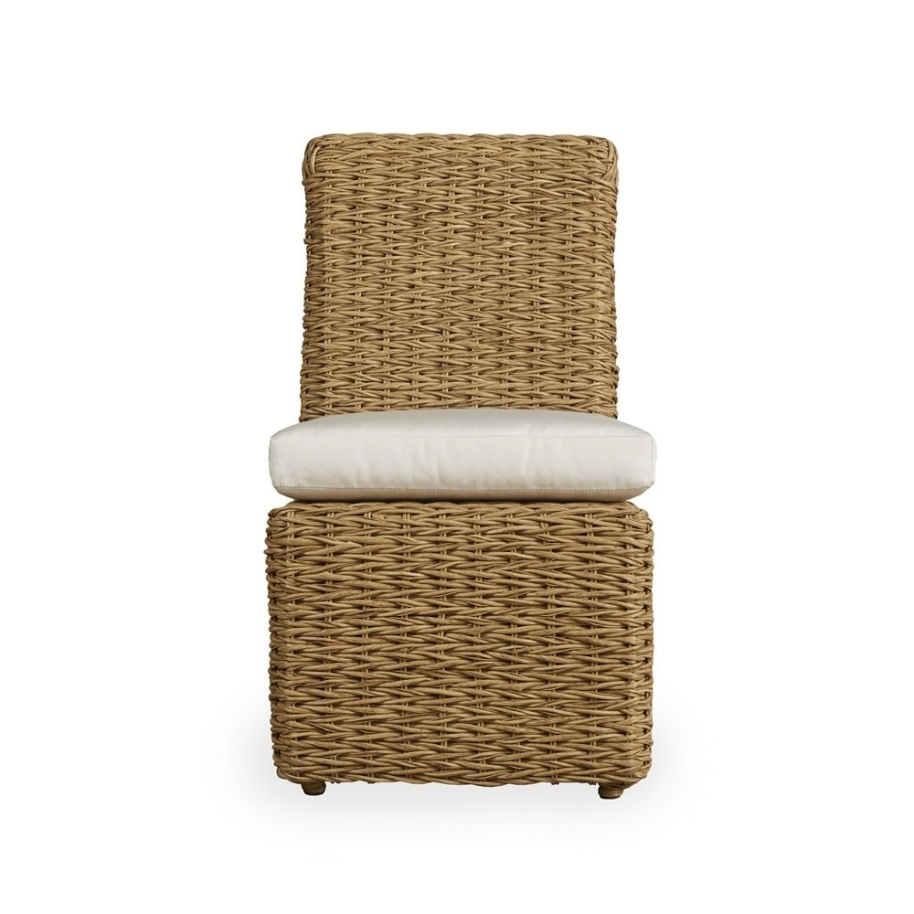Favorite Lloyd Flanders Cayman Armless Wicker Dining Chair – Wicker Dining With Regard To Armless Oatmeal Dining Chairs (View 13 of 20)