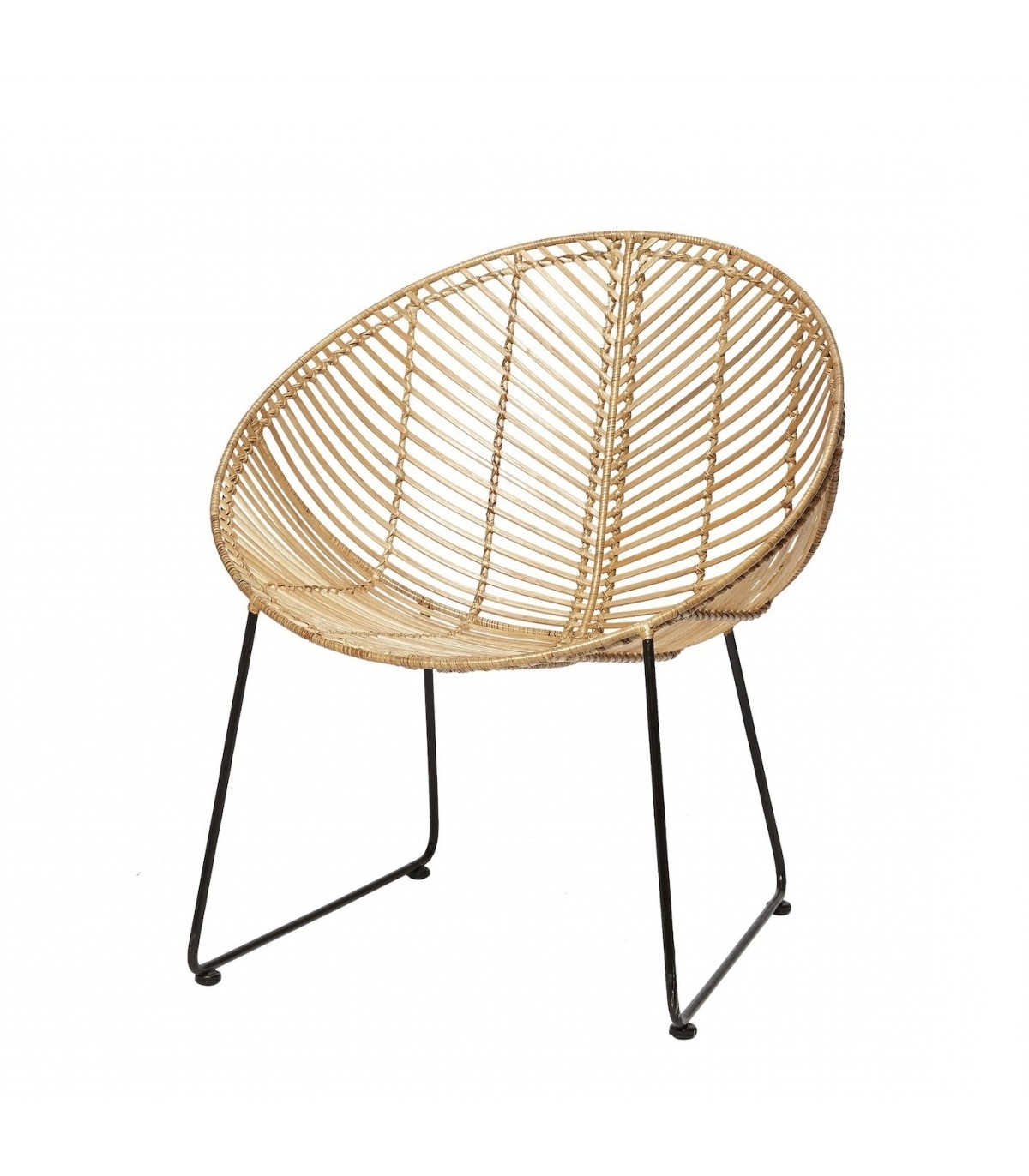 Favorite Natural Rattan Round Chair Hbsch With Regard To Natural Rattan Metal Chairs (View 18 of 20)
