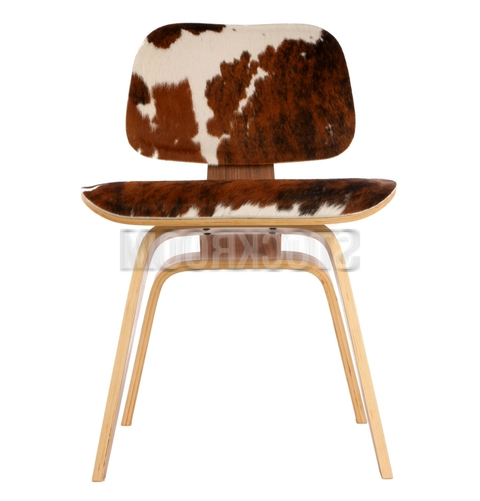 Favorite Plywood & Metal Brown Dining Chairs In Charles Eames Dcw Style Dining Chair In Ponyhide Charles Eames Dcw (View 15 of 20)
