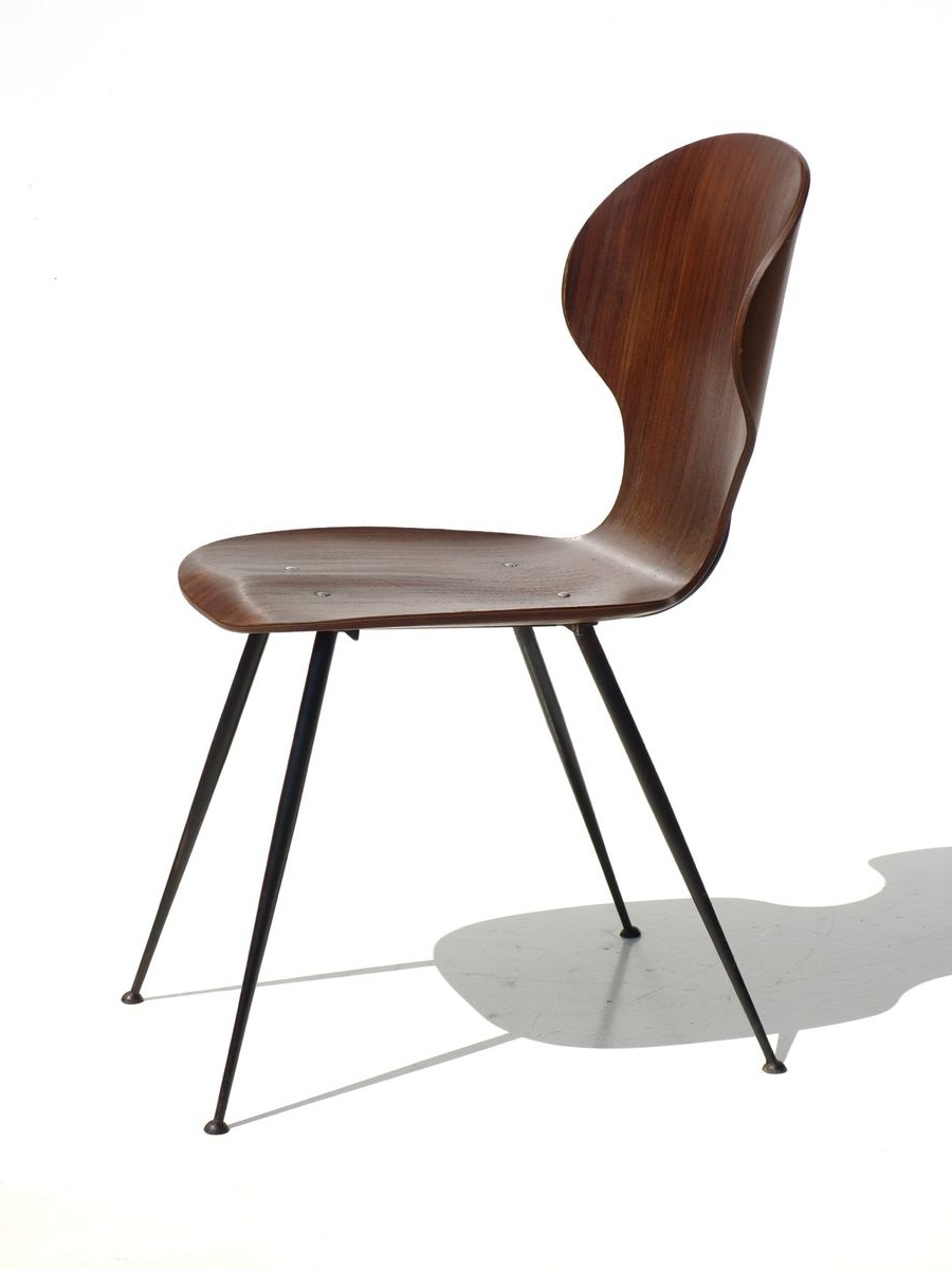Favorite Plywood & Metal Brown Dining Chairs Pertaining To Mid Century Plywood & Metal Dining Chairscarlo Ratti For Lissoni (View 4 of 20)