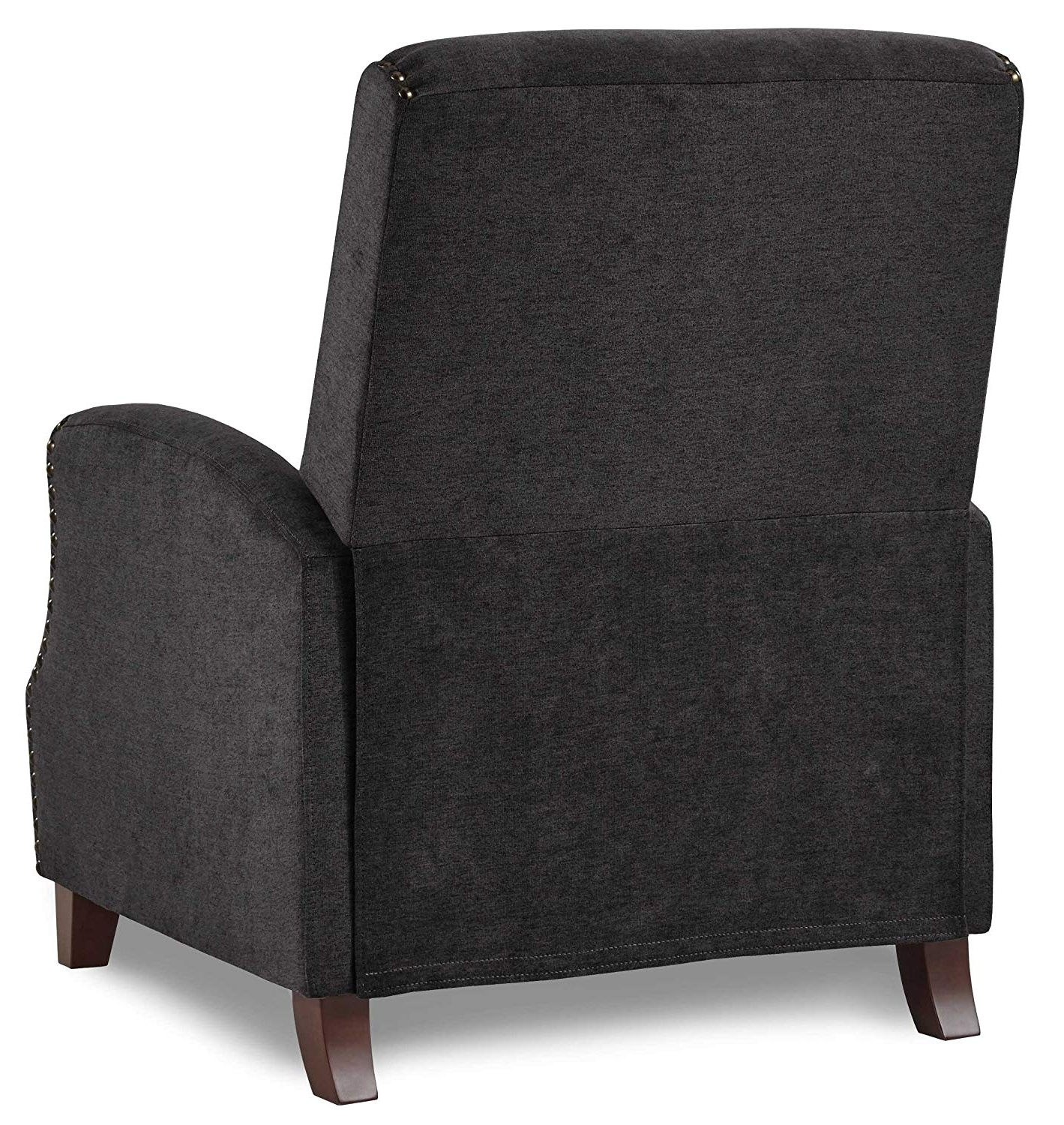 Favorite Walden Upholstered Arm Chairs Intended For Amazon: Homelegance Walden Push Back Fabric Recliner, Gray (View 4 of 20)