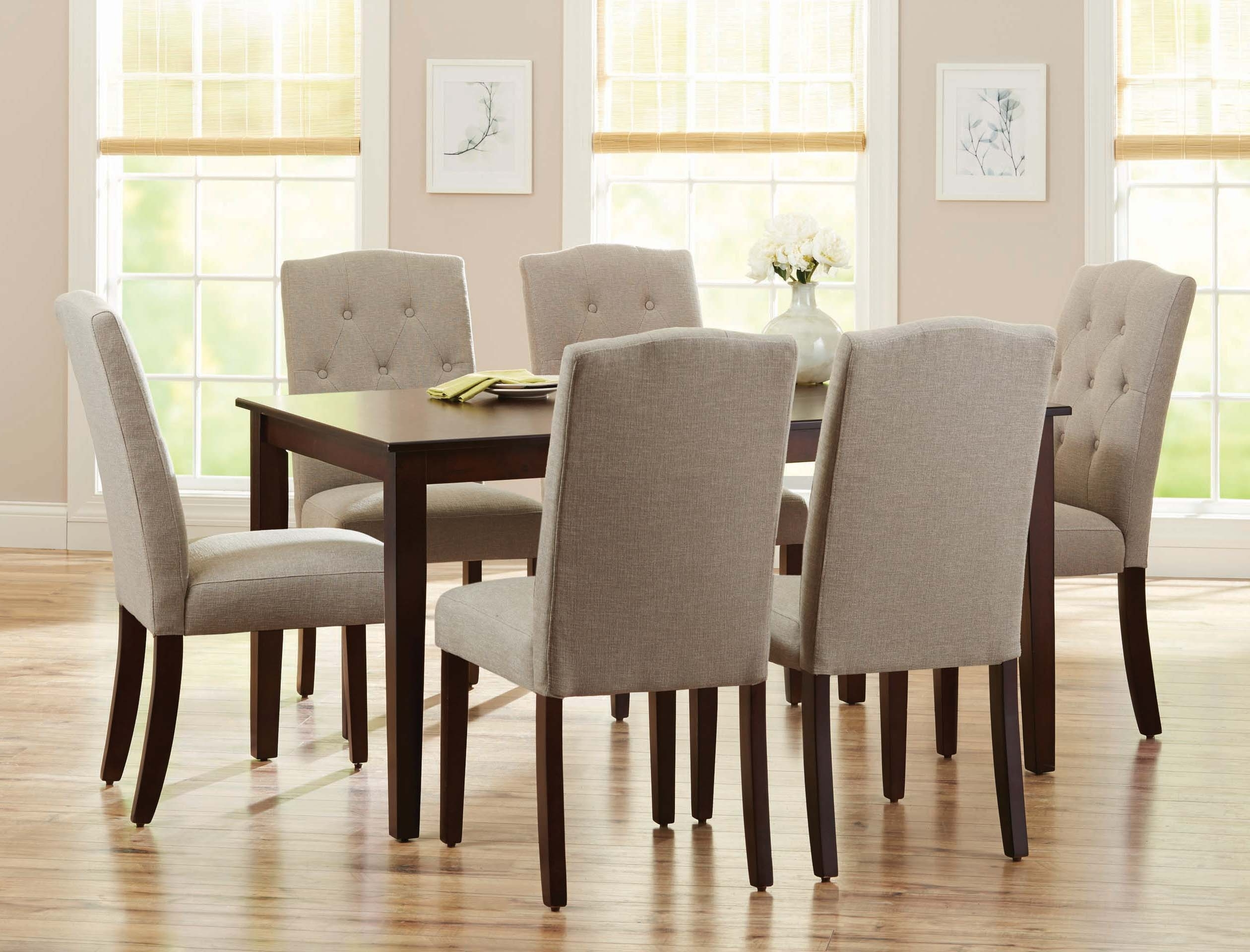 Furniture Dining Table Parson Chairs Large Rustic Dining Wooden With Trendy Cintra Side Chairs (View 14 of 20)