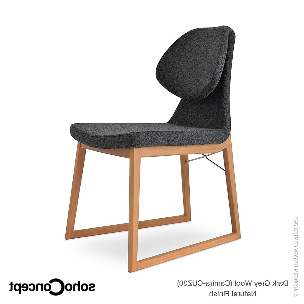 Gakko Wood Dining Chair Kent Genuine Leathersoho Danish Modern Regarding Recent Kent Dining Chairs (View 19 of 20)
