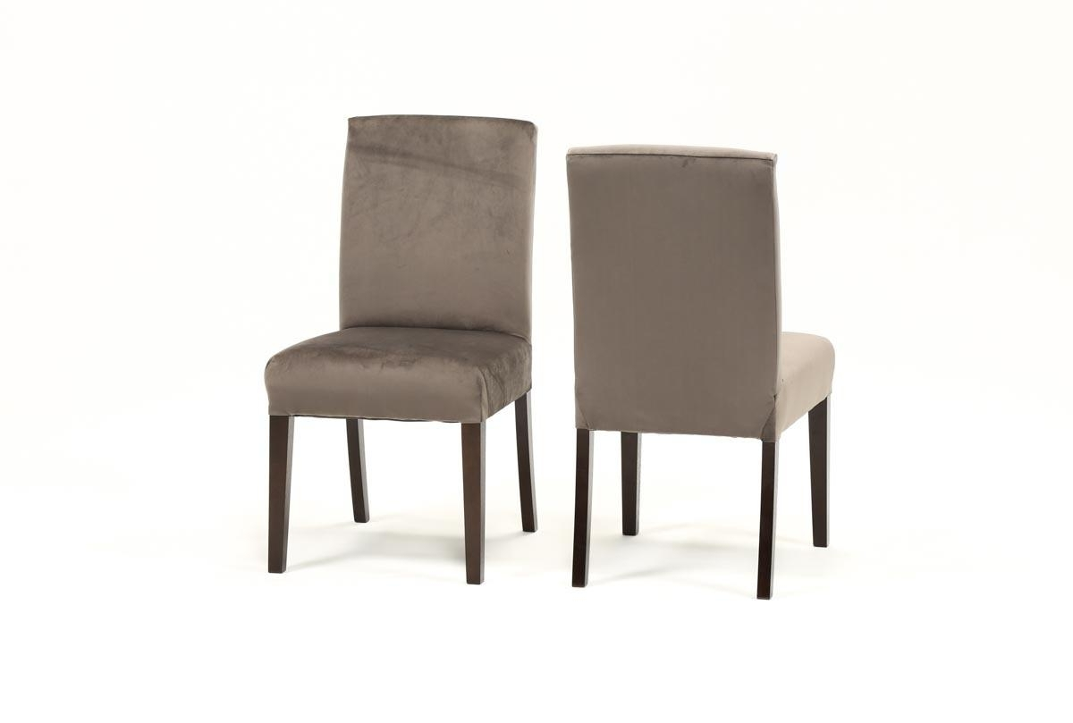 Garten Delft Skirted Side Chairs Set Of 2 For Most Current Garten Caviar Chairs W/espresso Finish Set Of 2 (Gallery 2 of 20)