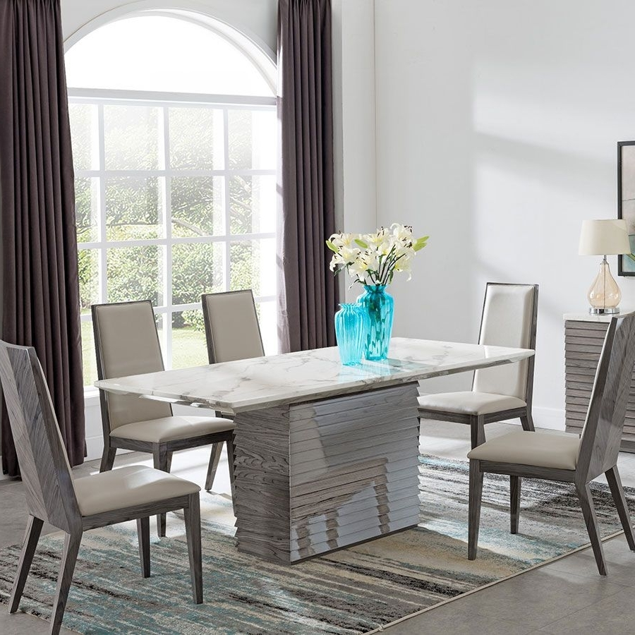 Garten Marble Skirted Side Chairs Set Of 2 Intended For 2018 Alfrank Tivoli Marble Dining Set (View 11 of 20)