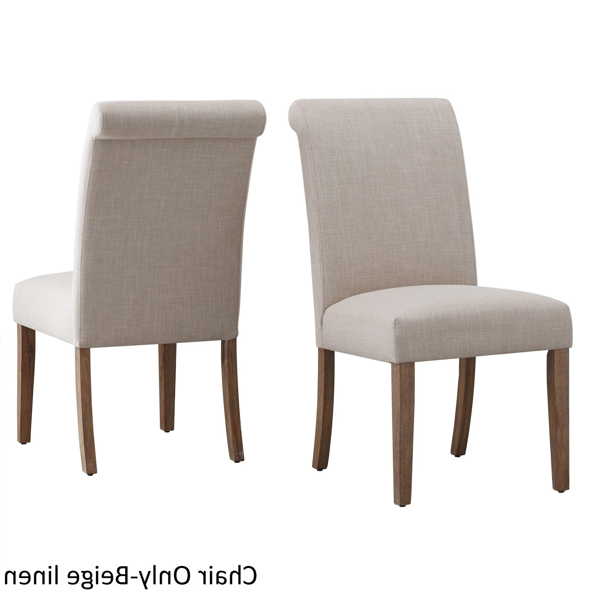 Garten Marble Skirted Side Chairs Set Of 2 Pertaining To Best And Newest Shop Potomac Slipcovered Rolled Back Parsons Chairs (Set Of 2) (Gallery 10 of 20)