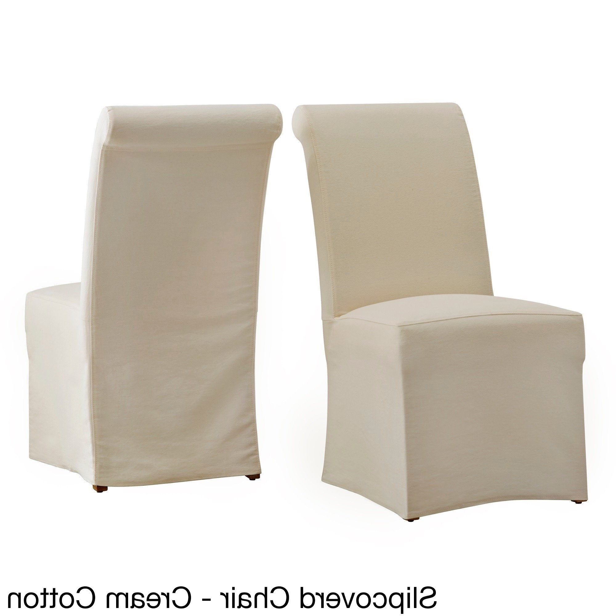Garten Marble Skirted Side Chairs Set Of 2 Within Well Known Shop Potomac Slipcovered Rolled Back Parsons Chairs (set Of 2) (View 9 of 20)
