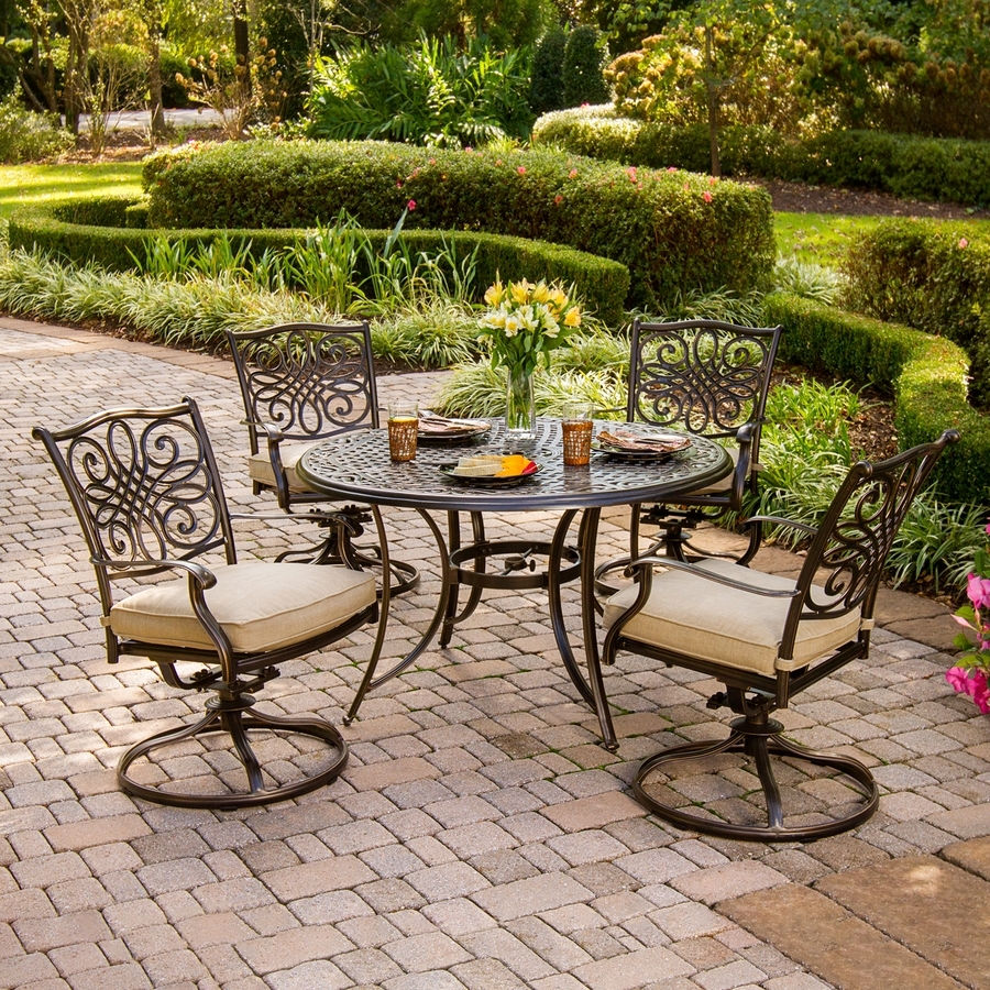 Garten Storm Chairs With Espresso Finish Set Of 2 Regarding 2017 Shop Patio Dining Sets At Lowes (View 16 of 20)