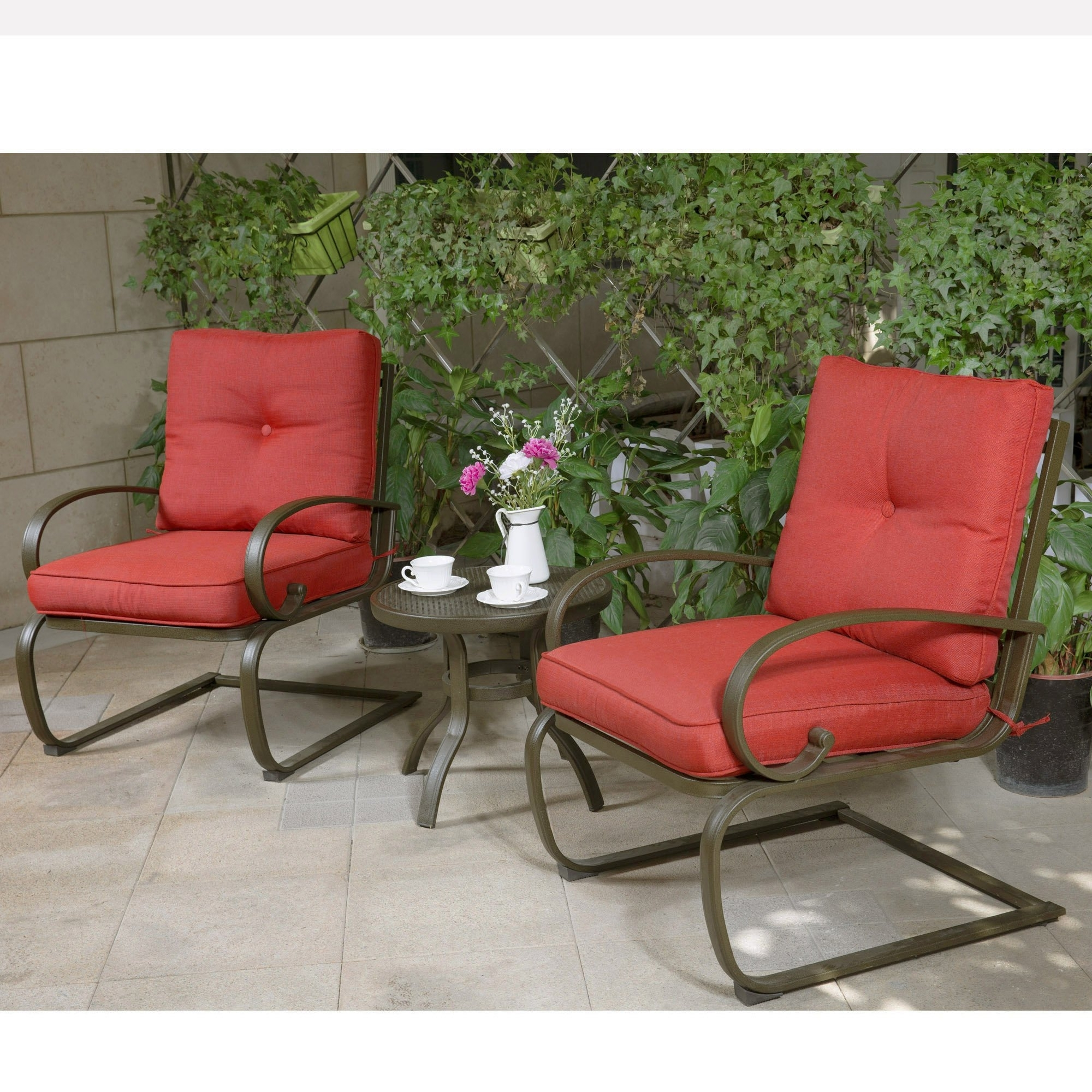 Garten Storm Chairs With Espresso Finish Set Of 2 Throughout Current Best Rated In Patio Furniture Sets & Helpful Customer Reviews (View 13 of 20)