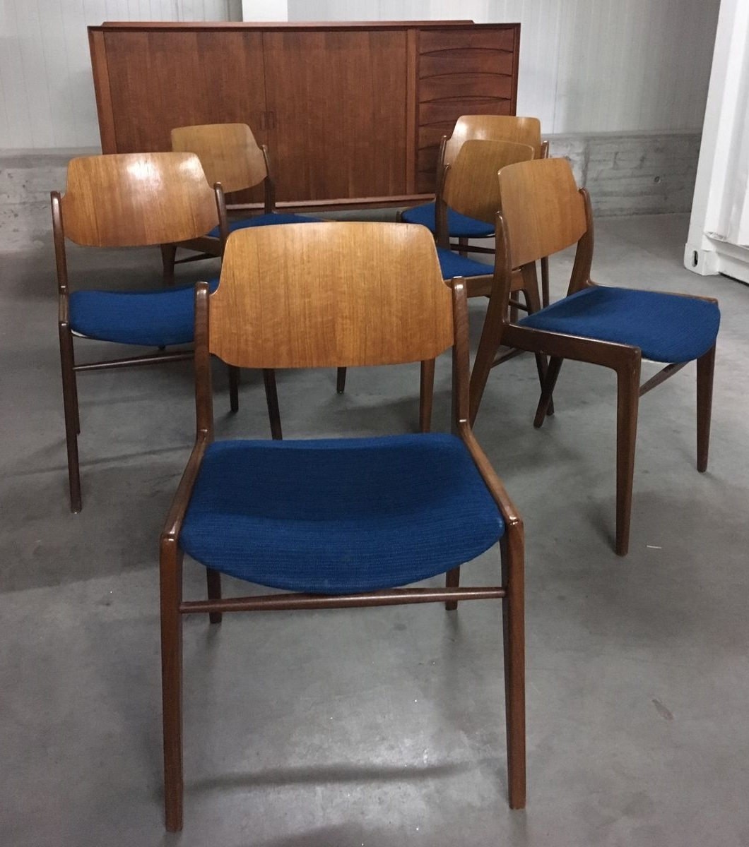 German Mid Century Dining Chairshartmut Lohmeyer For Wilkhahn Throughout Well Known Cintra Side Chairs (Gallery 15 of 20)