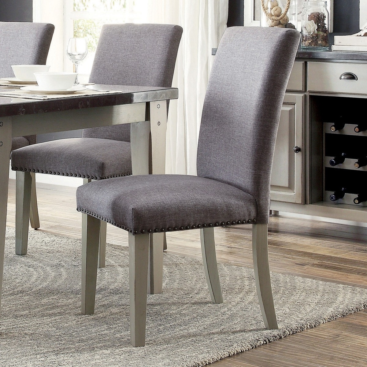 Grady Side Chairs Intended For Favorite Mendel Grey Side Chair (Set Of 2) For $ (View 6 of 20)